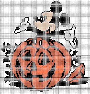 Mickey in pumpkin