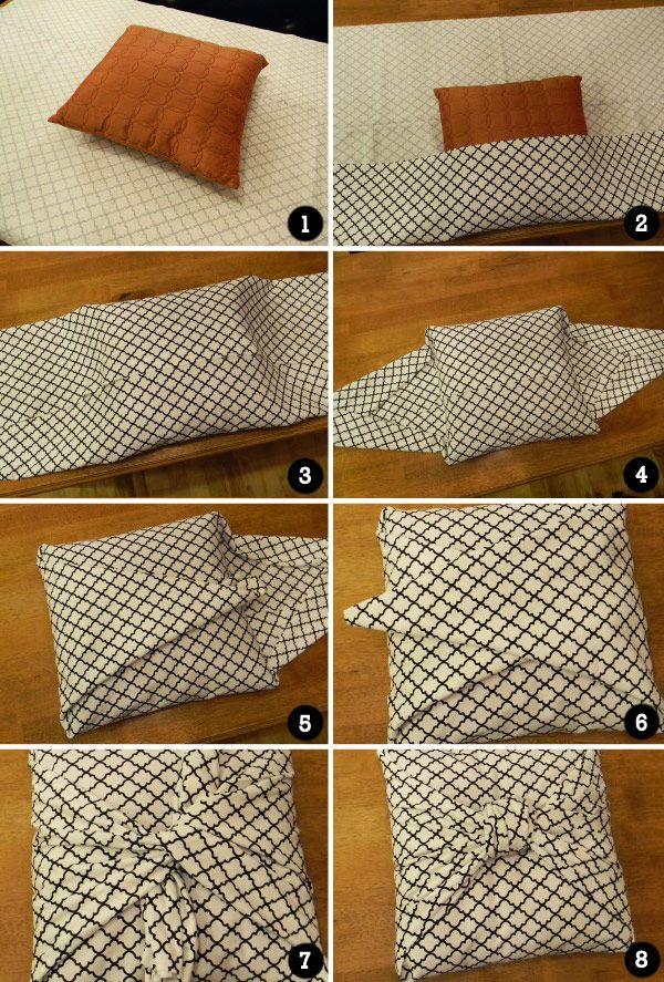 Um jeito prático e legal de trocar a capa da almofada!