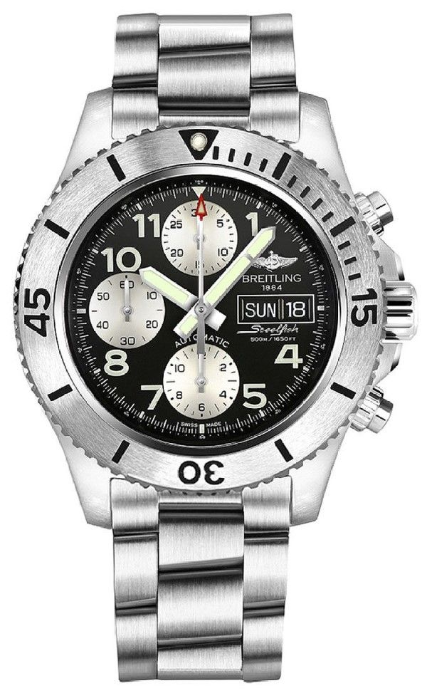 Men watches | Online store for Breitling Superocean Chronograph Steelfish Automatic Steel Mens Watch DOW/Date A13341C3/BD19-162A