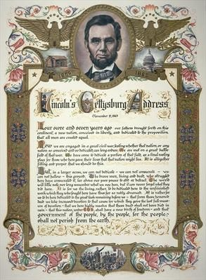 The Gettysburg Address was delivered by Abraham Lincoln on November 19, 1863, during the American Civil War, four and a half months after the Battle of Gettysburg.
