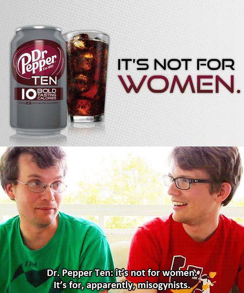 John and Hank Green on Dr. Pepper Ten.