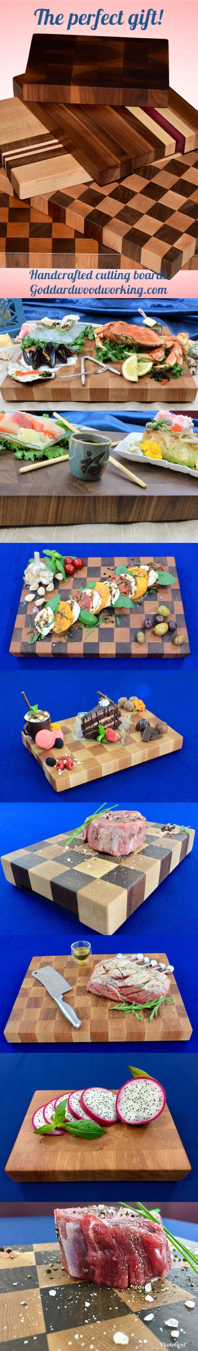 Make any party appetizers and dessert stand out when displayed on a handcrafted end grain cutting board! These boards not only serve a purpose, but also provide a animated eye-catching piece of décor for your home. #wine #winetime #handcrafted #cuttingboard #cooking #handmade #woodworking #foodie #partydecor #gifts #giftguide #giftsforher #amazing #giftideas #cook #chef #house #kitchendesign #wedding #weddinggift #dinnerparty #partytime #kitchenideas #weddinginspiration #homedecor #kitchens