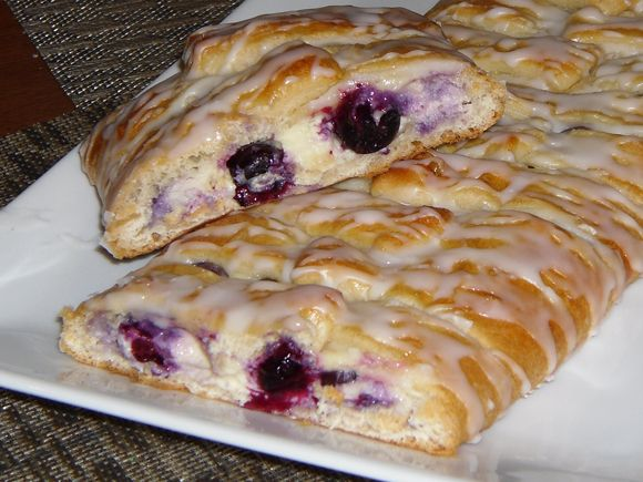 Blueberry Cream Cheese Coffee Cake Using Crescent Dough