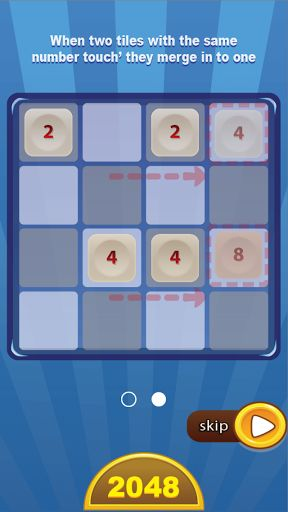 2048 - Free Puzzle Games is free puzzle game  for all ages, have Funny and Brain. Likely for kids ( learning numbers, plus, logic, increase IQ). Join the numbers and get to the 2048 tile! Goal is 2048, WIN!!!! FREE IQ test<br>HOW TO PLAY:<br> • Swipe (Up, Down, Left, Right) to move all tiles, when two tiles with the same number touch, they merge into one.<br> • Example: 2+2=4 ... 4+4=8 ...8+8=16...1024 + 1024= 2048. When a 2048 tile is created, the player wins. And you can play continue 4096…