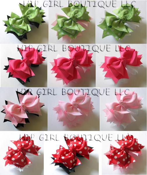 How to make 2-Layer Interchangeable Hair Bows with Spike