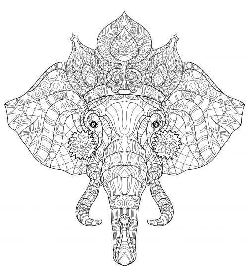 Elephant Head Poster Free Coloring PagesColoring SheetsColoring