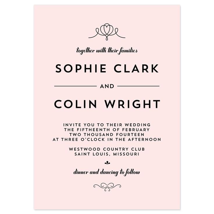 Wedding Invitation Wording Samples | 21st - Bridal World - Wedding Lists and Trends