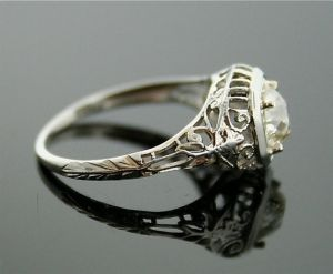 Engagement Ring  Antique Diamond Ring by SITFineJewelry on Etsy, $2490.00 by lily22