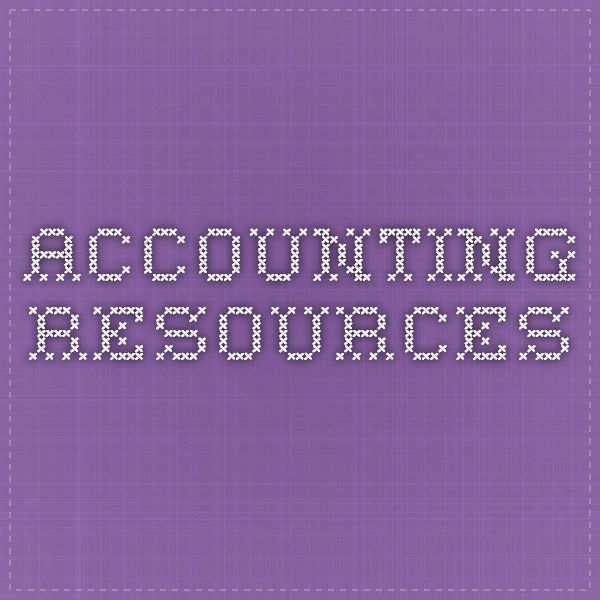 Resources for High School Accounting