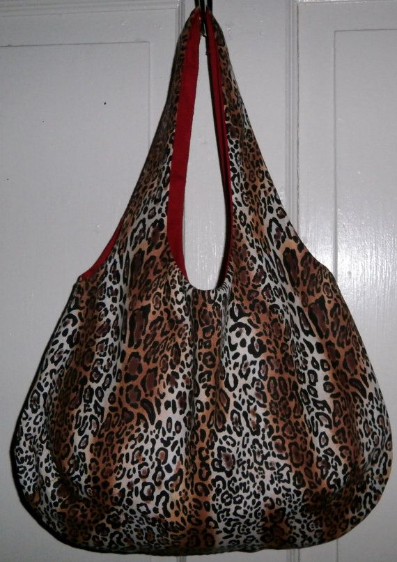 Reversible Leopard Print Bag by AurielG on Etsy, $20.00