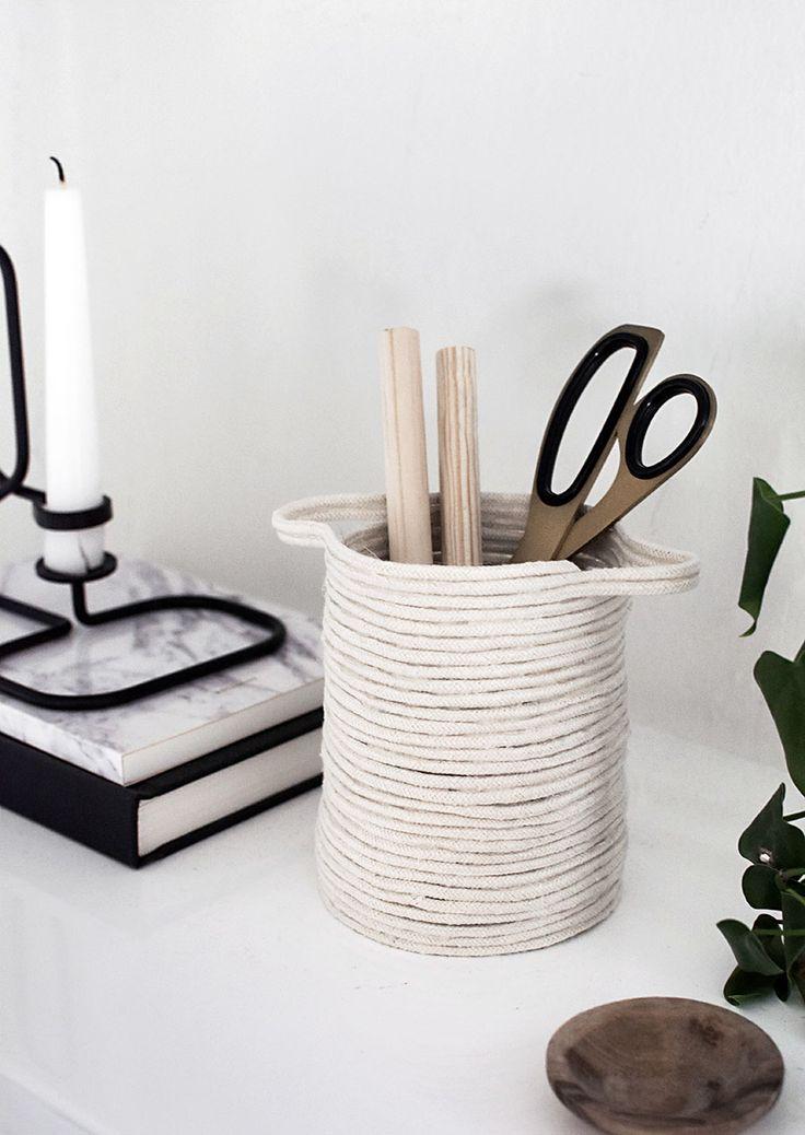 DIY Small Rope Basket  | www.homeology.co.za