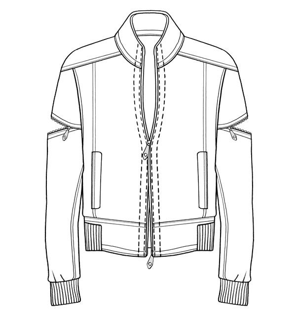 Line Drawing Jacket : Best images about dtbombers on pinterest technical