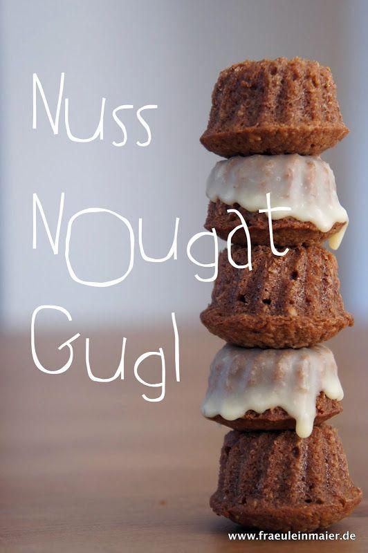 saftige Nuss-Nougat-Gugl mit weisser Schokolade