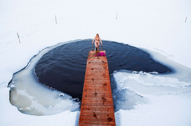 Try an icy dip -Rovaniemi, Lapland, Finland