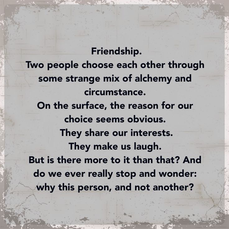 Being Erica - quote on friendship