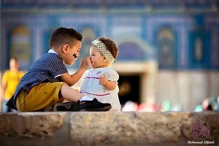 أطفال في المسجد الأقصى