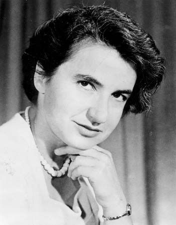 Rosalind Franklin (1920 - 1958) was a British physicist and X-ray crystallographer who made critical contributions to the understanding of the fine molecular structures of DNA, RNA, viruses.  Unpublished drafts of her papers (written just as she was arranging to leave King's College London) show that she had independently determined structure of the  DNA helix.   Watson & Crick received the Nobel Prize in medicine in 1962 for this work, four years after Franklin's death of ovarian cancer.