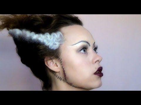 Make-up ideas for Bride of Frankenstein - DLGH  DIY Halloween - YouTube