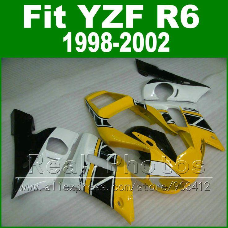 High Quaity Plastic parts for YAMAHA R6 fairing kit 98-02 yellow  YZF R6 fairings1998 1999 2000 2001 2002 bodywork