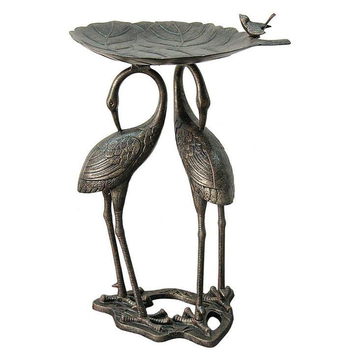 Have to have it. Innova Double Heron Lily Pad Bird Bath - $97 @hayneedle