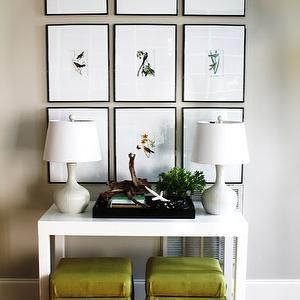 Parsons Console Table - Transitional - living room - Sally Steponkus Interiors