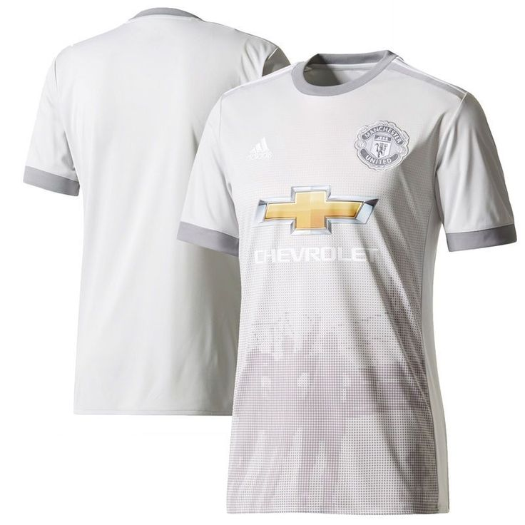 Manchester United adidas Youth 2017/18 Third Replica Blank Jersey - Gray