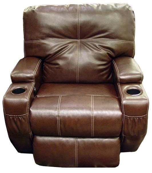 Leather Power Recliner With Cup Holders Home Decor