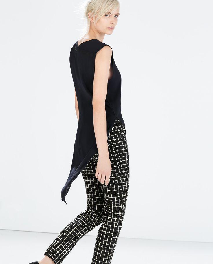 Image 2 of PRINTED LEGGINGS WITH SIDE ZIP from Zara