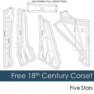 Free 18th Century Corset Pattern free corset pattern