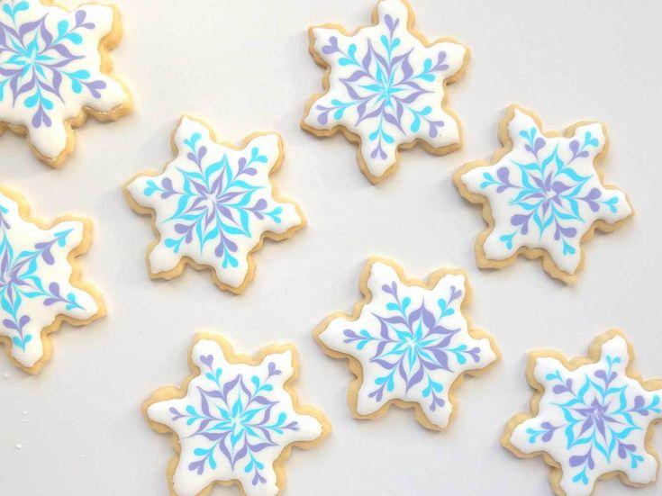 snowflake cookie sugar cookie decorating easy beginner royal icing