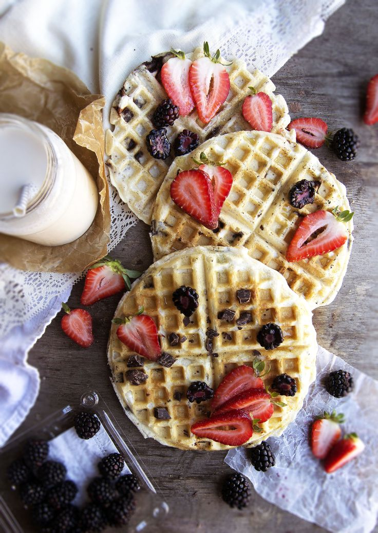 Easy Vegan Waffles, requiring just 6 ingredients and 15 minutes to whip up! A quick, wholesome breakfast, delicious with fresh fruit and a drizzle of maple syrup.