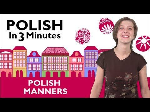 Learn Polish - Polish in 3 Minutes - Thank You & You're Welcome in Polish - YouTube
