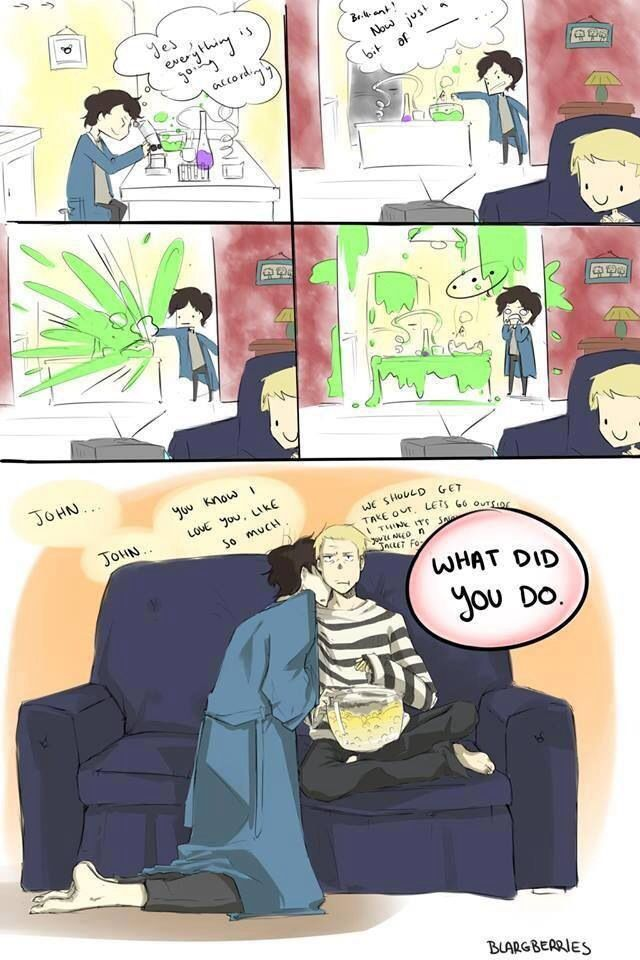 haha not Johnlock, but just funny<< that last panel is...rather johnlock actually...