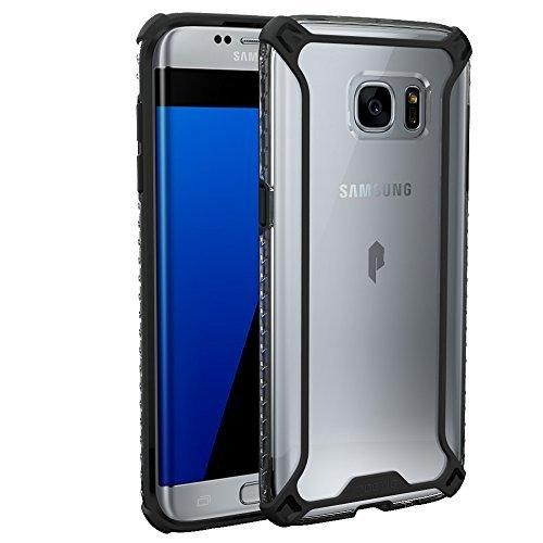Galaxy S7 Edge Case POETIC [Affinity Series] [Premium Thin][Corner Protection]No Bulk/Protection where its needed/Dual Material Protective Bumper Case for Samsung Galaxy S7 Edge Black/Clear