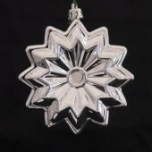 95mm Shiny Silver Star Flower  Code: DISC009SILSFLOW