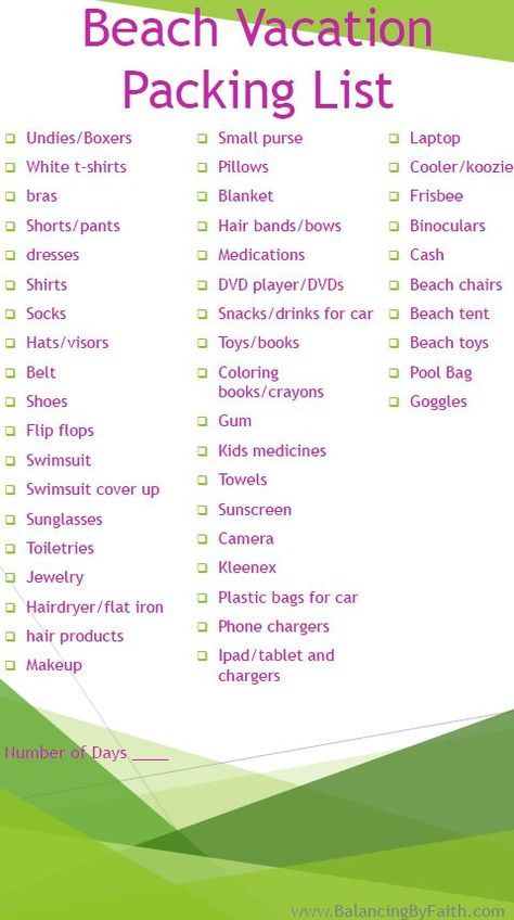 Best  Beach Vacation Packing List Ideas On   Vacation