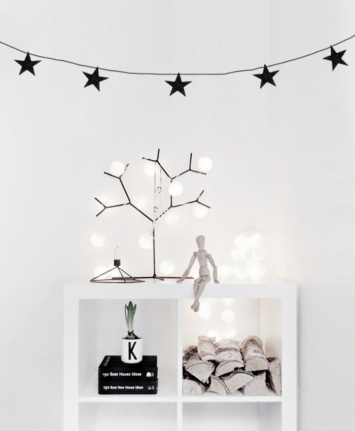 Christmas decoration scandinavian style #minimalchristmasdecoration #monochromaticchristmasdecor