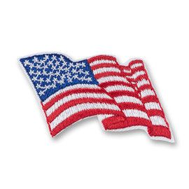 American Flag Patch represents the USA flag in a wavy fabric design. Official and embroidered in red, white and blue. It is an optional patch that can be worn by all Girl Scouts on their vest, sash or tunic. Daisy Girl Scouts may wear the flag patch on the right shoulder of the tunic. All others may wear the flag patch above the Girl Scout Council ID set on the sash or vest. Polyester twill and thread. Made in USA.Find out where to place insignia on a Girl Scout uniform.