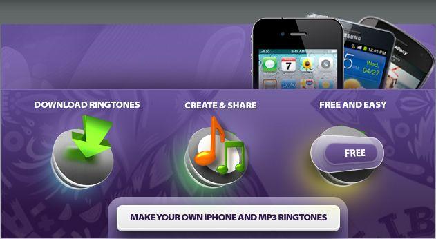 Ingyenes Csengőhangok az iPhone és az Android. Ingyenes online Ringtone Maker