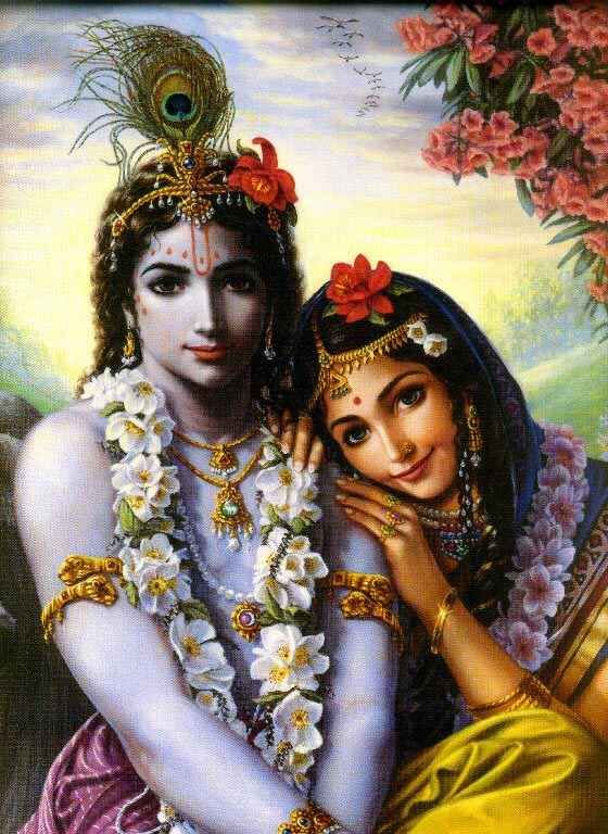 Radha & Krishna: painted by Vishnu Das of Vancouver :)