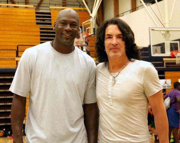 2 legends, Michael Jordan and Paul Stanley