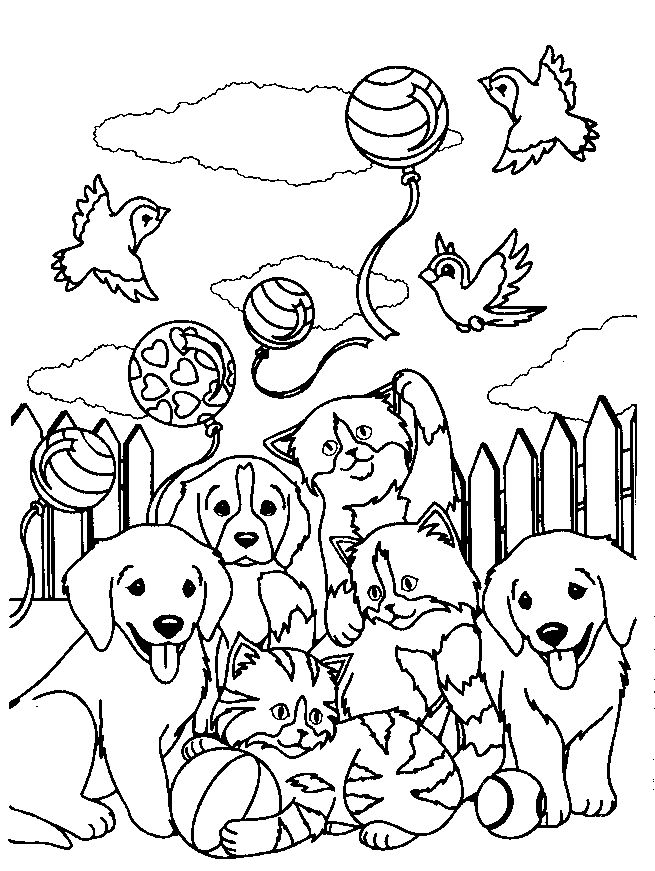 Lisa Frank Printable Animal Colouring Page