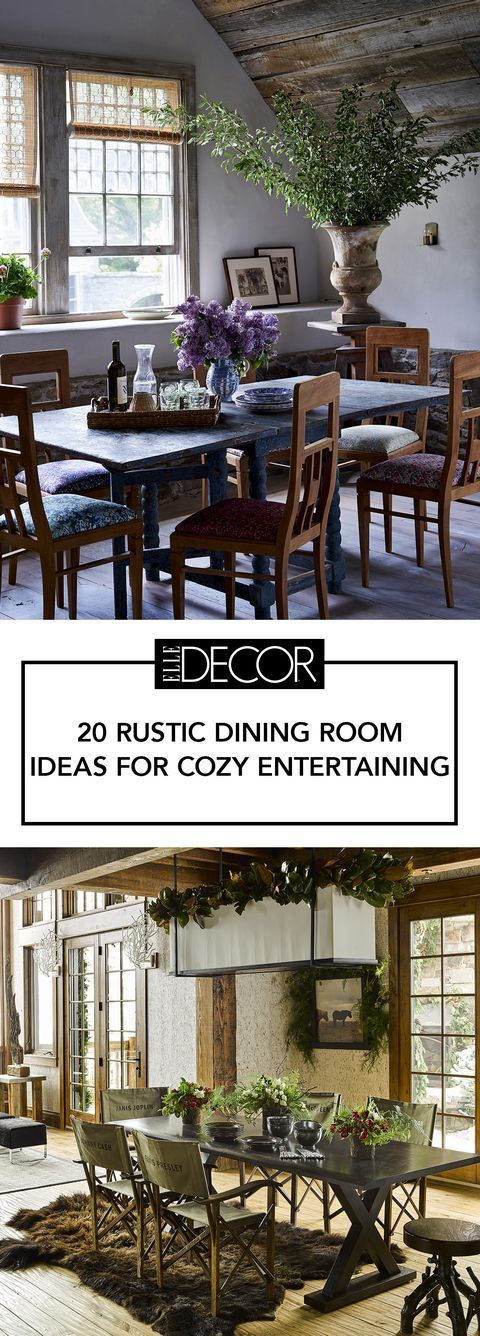 These Rustic Dining Rooms Are The Definition Of Country Chic rustic dinning room Always wanted ...
