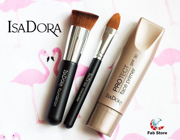 IsaDora Protect Face Primer - Preps and protects your skin with a full load of moisture. Apply on bare skin or after your moisturizer, follow with your foundation for a long lasting and flawless result.  Now available at Fab Store Beauty outlet in Spinneys the Pearl Qatar-Madinat Centrale.