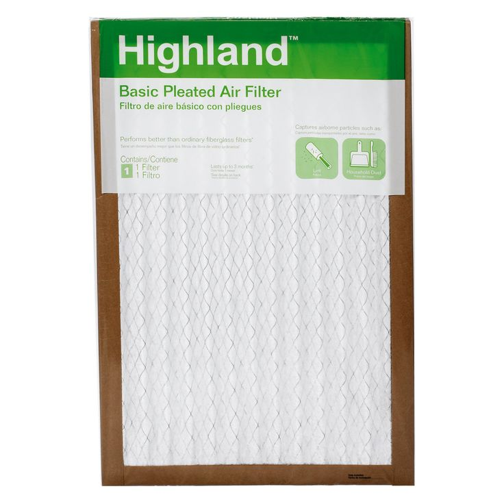 3M PHDW00DC-6 Highland Basic Pleated Allergen Air Filters - 6 Pack - JEN2458