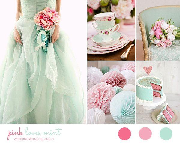 vintage mint and pink wedding inspiration http://weddingwonderland.it/2015/06/matrimonio-rosa-e-menta.html