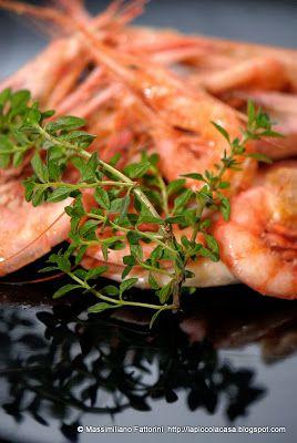 Gamberi di Santa Margherita saltati in padella con gewurztraminer e timo limone - quando è la qualità degli ingredienti a far la ricetta