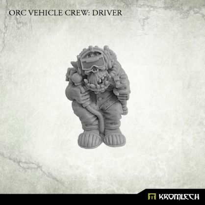 This set contains one resin Orc Vehicle Crew: Driver. It can be used to convert existing orc vehicles or build completely new ones. Designed for 28mm heroic scale. Please note that this model has no seat.