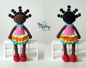 Bambola uncinetto con trecce, abito e scarpe / uncinetto giocattolo / bambola Amigurumi / Chirstmas, regalo di compleanno / ragazza giocattolo / bambola / regalo