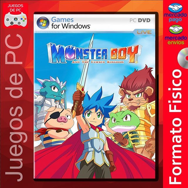 Monster Boy And The Cursed Kingdom Español Formato Físico Dvd O Bluray Envíos A Todo El País Argentina Monster Boy Book Cover Frosted Flakes Cereal Box